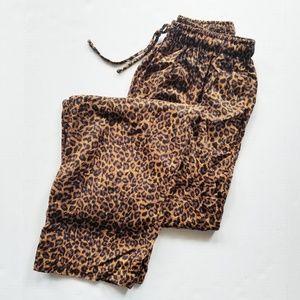 NWT Filene's Leopard Print Vintage Jogger Pants M